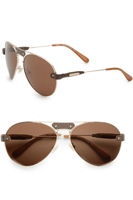chloe metal aviator sunglasses