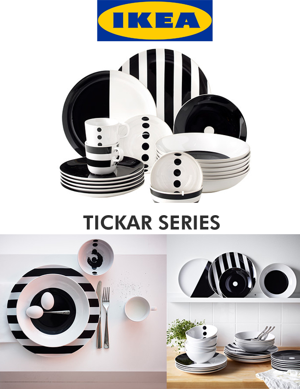 ikea tickar dinnerware Tickar Series