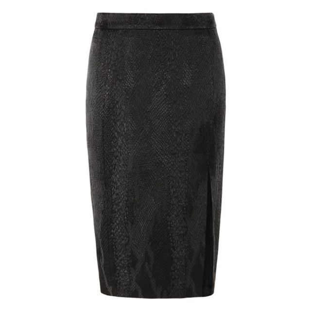 altuzarra for target black python skirt