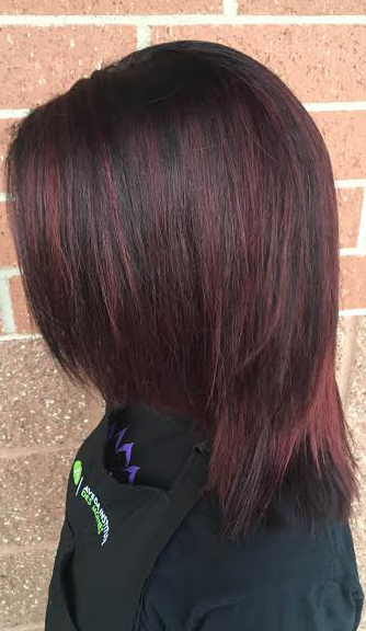 burgundy brunette hair color