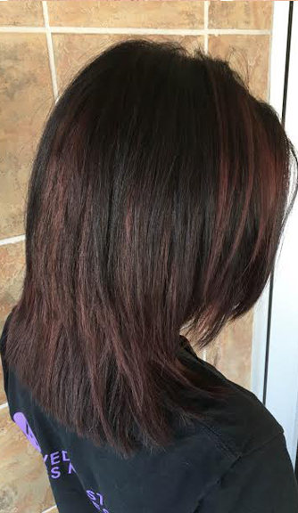 burgundy or cherry cola brunette hair color