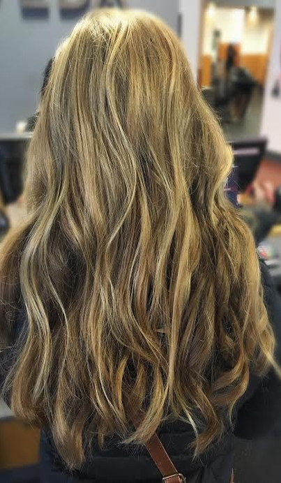 sandy beige blonde highlights